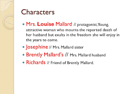essay on the feminism in yellow wallpaper and story of an hour    characters mrs louise mallard protagonist young attractive w  who mourns the