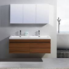 55 inch double sink bathroom vanity: virtu usa zuri  inch double sink vanity