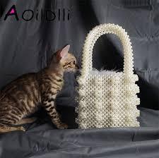 <b>Handmade Pearl</b> Lady Tote <b>Luxury Handbags</b> Small Box Evening ...