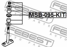Febest MSB095KIT Втулка <b>стойки переднего стабилизатора</b> ...