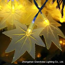 China Maple <b>Leaves Shape</b> Colorful 100 LED String Light - China ...