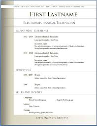 resume templates free download word formatted resume