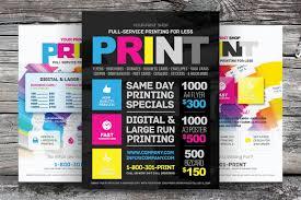 print shop flyer template flyer templates on creative market