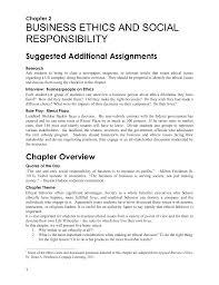 chapter business ethics and social responsibility