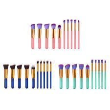 <b>10pcs Portable Makeup</b> Brushes Set Powder <b>Foundation</b> ...