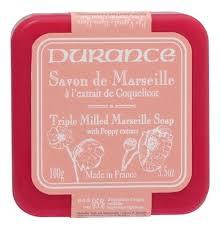 Купить <b>натуральное мыло Triple Milled</b> Marseille Soap With Poppy ...