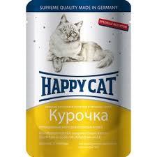 <b>Happy Cat</b> Курица <b>паучи</b> для взрослых кошек любых пород - 100 г