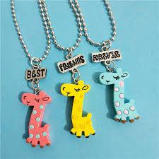 <b>Cute 3 Pcs</b>/lot Best Friends Forever BFF Giraffe Necklace ...
