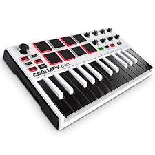 Akai Professional MPK <b>Mini</b> MKII LE White | 25-<b>Key</b> Portable USB ...