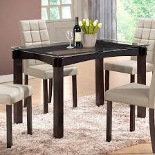 designs sedona table top base: crown mark zora glass top dining table