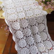 rectangular dining table cover cloth knitted vintage: fashion design handmade hook flower tablecloth fashion vintage white  cotton knitted table cover rectangle cabinet gremial
