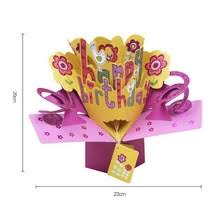 3D поздравительная <b>открытка</b> с днем рождения с цветами ...