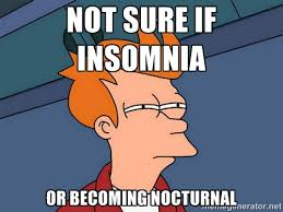 not sure if insomnia or becoming nocturnal - Futurama Fry | Meme ... via Relatably.com