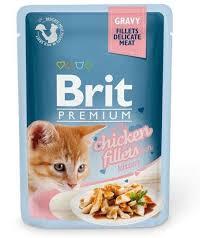 <b>Паучи Brit Premium Gravy</b> Chicken Fillets fot Kittens в соусе для ...