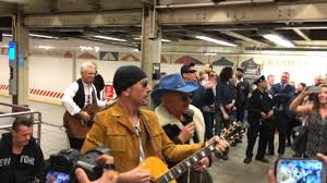 U2 Surprise Performance at Grand Central with Jimmy Fallon ...