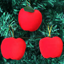 <b>FUNNYBUNNY Christmas Tree Decorations</b> Hanging Red Apples ...