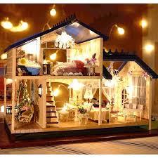 New <b>Dollhouse Miniature DIY</b> Kit Dolls House With Furniture DIY ...