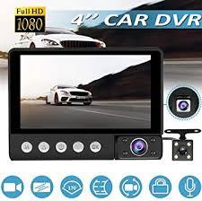 Mylujo <b>Dash</b> Cam C9 <b>3 Lens</b> Car DVR Camera 4 inch LCD 1080p ...
