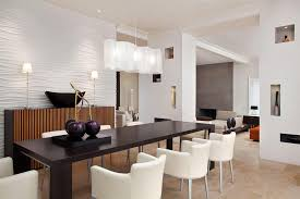 modern dining room lighting idea with unique white shade rectangle chandelier over rectangular black dining casual dining room lighting