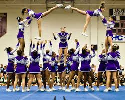 Image result for pictures high school cheerleading stunts