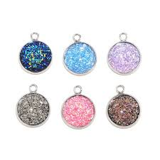 <b>Newest</b> Mixed color <b>20pcs</b>/<b>lot</b> Stainless Steel Charm Flat <b>Round</b> ...