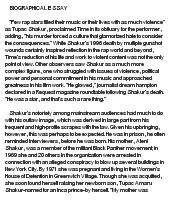 biographical essay of tupac shakur at essaypediacom essay on biographical essay of tupac shakur