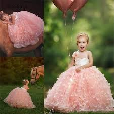 <b>New Arrival Pink</b> Girl Pageant Dresses Ball Gown Spaghetti Strap ...