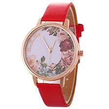 Ogquaton Premium Quality Fashion <b>Women</b> Dress <b>Watch Flower</b> ...