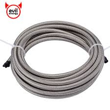 <b>evil energy</b> 5M <b>AN3</b>/4/6/10 Stainless Steel Silver Braided PTFE ...
