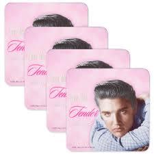 kitchen items store: elvis love me tender pc coaster set