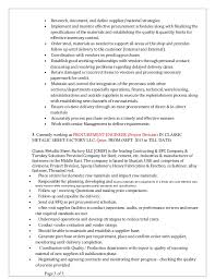 resume  resume templates procurement specialist    purchase    sample resume