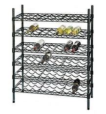 Price 14 Deep x <b>48</b> Wide x 54 High 6 Black Shelf Single <b>Wine Rack</b> ...