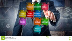 it manager touching security audit in a puzzle stock photo image it manager touching security audit in a puzzle