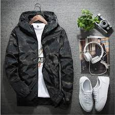 <b>Spring Autumn Mens</b> Casual Camouflage Hoodie Jacket <b>Men</b> ...