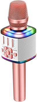 BONAOK 2021 Wireless Bluetooth Karaoke ... - Amazon.com
