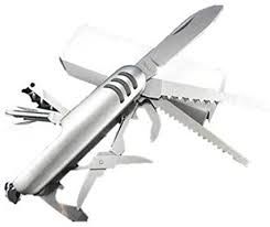 <b>Multi Function</b> 11 Features Stainless Steel Pocket Tools Chest <b>Knife</b>
