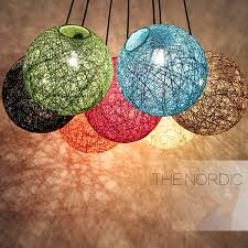Hemp Ball led Pendant Lights <b>Modern Rattan hanging Light</b> ...