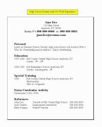 resume examples resume outline example for objective      example resume for a high school student