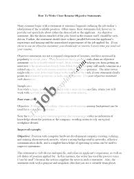 doc example of objectives for resume template example resume basic resume objective statements basicresume