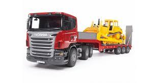 <b>Игрушка Bruder тягач Scania</b> с гусеничным бульдозером CAT ...