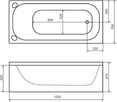<b>Акриловая ванна Triton Стандарт</b> 130x70 Н0000099326 в Москве ...