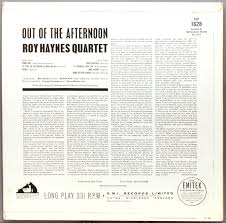<b>Roy Haynes Out</b> of the Afternoon (1962) UK HMV ...