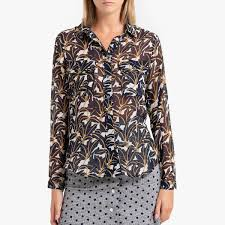 <b>Рубашка La Redoute С</b> длинными рукавами CLOTILDA XS синий ...