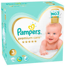 Купить <b>Pampers подгузники Premium</b> Care 3 (6-10 кг) 114 шт. по ...