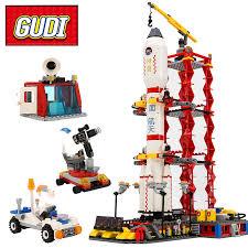 GUDI 8815 <b>City Spaceport Space</b> Shuttle Building Block Sets ...