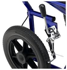 "Kết quả hình ảnh cho Medline MDS808210ABE Aluminum Transport Chair with 12"" Wheels, Blue"