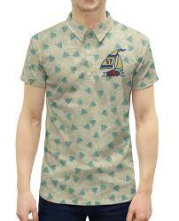 """Рубашка Поло с полной запечаткой """"<b>Кораблик</b>"""" #2095448 от ..."""