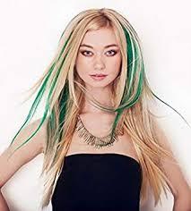 18 inches, <b>2pcs</b>, 100% <b>Real</b> Human Hair Streaks. Luxury Clip-in ...