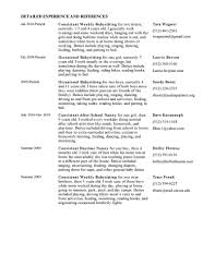 nanny summary resume resume for nanny job example resume for nanny summary resume