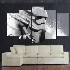 Art Printed Modern Canvas <b>Wall Modular Poster</b> Frame 5 Panel ...